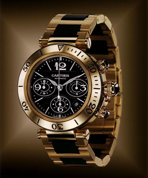 Casino Uhr Gold