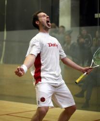 Squash spielen mit Gregory Gaultier
