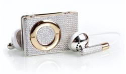 iPod shuffle mit Diamanten