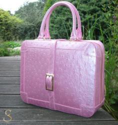 Camille Fournet Strauß Tasche Perlmutt rosa