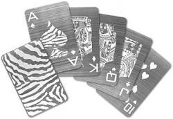 Edelstahl Poker Karten