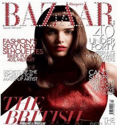 Harper's Bazaar Magazin besetzt mit 200 Swarovski Kristallen