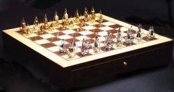Schachspiel aus Gold und Diamanten