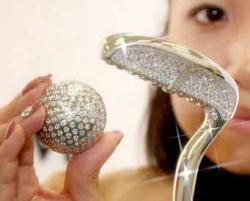 elegante Rosentasche aus Kristall