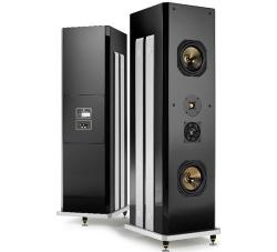 Polymer Logic Speaker System mit Gold und Diamanten