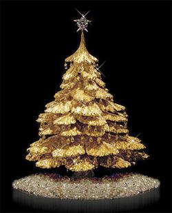 weihnachtsbaum aus gold mit diamanten. Black Bedroom Furniture Sets. Home Design Ideas