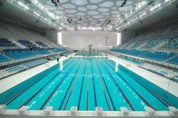 olympisches Schwimmbad in Peking