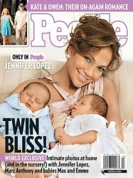 Jennifer Lopez Zwillinge exklusiv in People