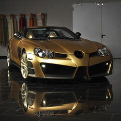 Mercedes-Benz SLR McLaren Renovatio Gold-Edition von Mansory