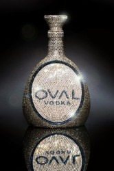 Limited Edition OVAL Swarovski Crystal Vodka Flasche