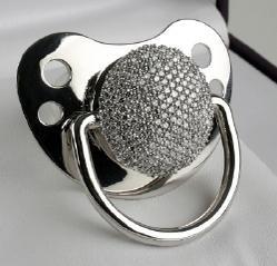 Schnuller mit Swarovski Diamanten