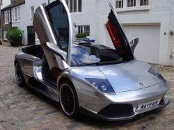 Verchromter Lamborghini Murcielago LP640