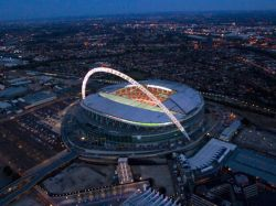 Das Wembley-Stadion in London