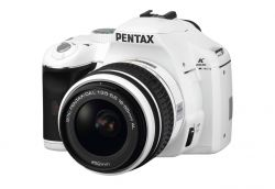 digitale Spiegelreflexkamera von Pentax in weiss