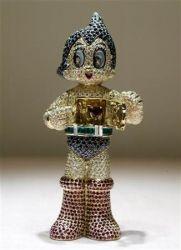 Astro Boy mit Diamanten, Rubinen und Smaragden