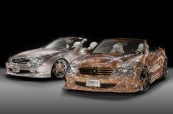 Mercedes Benz SL600 mit 300.000 Swarovksi Kristallen besetzt