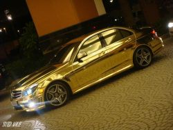 Mercedes-Benz C63 AMG in Gold