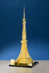Skulptur des Tokyo Towers in Gold