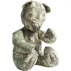 Teddybär aus Dollarschein