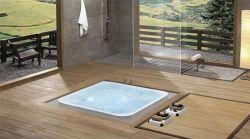 Kasch Badewanne im Boden eingelassen