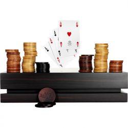 Pokerset aus Makassar Ebenholz