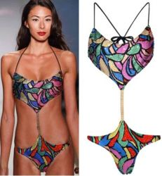 Luxus-Bikini mit Swarovski Kristallen