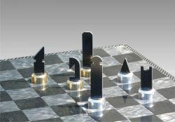 Das weltweit erste,vollständig aus Carbon gefertigte Schachbrett