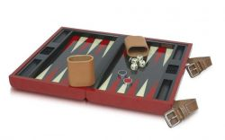 Backgammon Set von Ferrari in rot