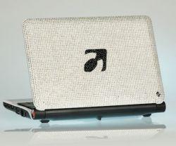 Smartbook mit Swarovski-Kristallen