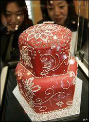 Hochzeitstorte mit 1200 Diamanten