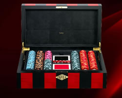 exklusives Pokerset von Cartier