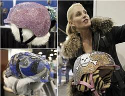 Ski-Helme mit Swarovski Kristallen