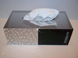 Tissue-Box mit Swarovski Kristallen