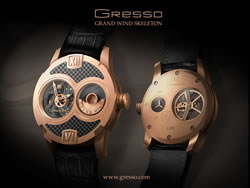 Gresso Grand Wind Skeleton Uhr