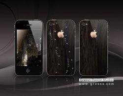 Gresso iPhone 4 mit afrikanischen Holz