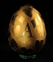 Das goldene Ei aus der Peter Nebengaus Collection mit den vier Poker-Assen