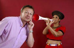 die teuerste Vuvuzela mit Diamanten