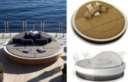 Lounger für Luxusyacht-Inhaber