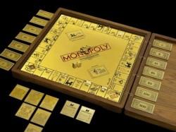 Monopoly Spiel aus Gold und Diamanten