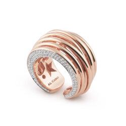 Al Coro Mezzaluna Diamant-Kollektion Ring