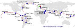 exklusive Weltreise in einem luxuriösen Privatjet von Hanseatic Aircruise Company