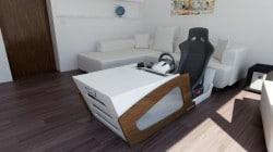 Simulator Cockpit als Couchtisch