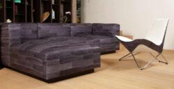Couch von Walter Knoll mit Nanaileder