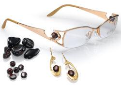 Luxus-Brillen con Crystaluche mit Edelsteinen