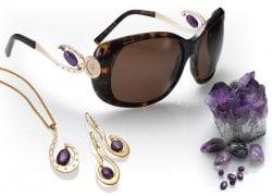 Luxus-Brillen mit Edelsteinen