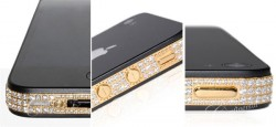 iPhone4 24k Classic Gold mit Diamanten