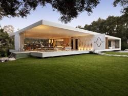 gläserne Luxusvilla in Santa Barbara, Kalifornien