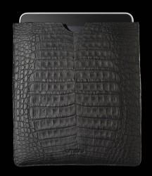 mattschwarze iPad2 Krokodiltasche von Alexander Amosu