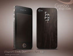 Gresso iPhone 4 Black Diamonds for Lady