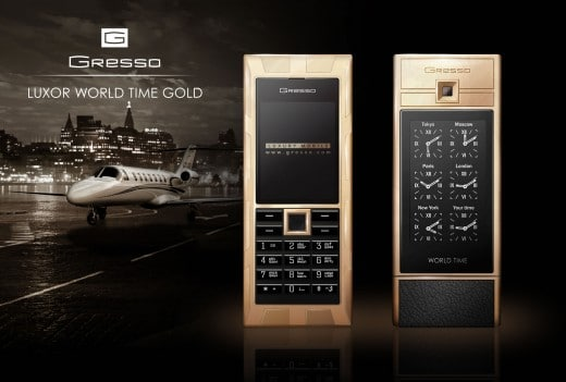 Gresso Luxor World Time Gold
